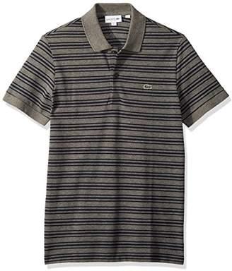 Lacoste Men's Short Sleeve REG FIT Petit Pique Polo WITHFINE Stripes