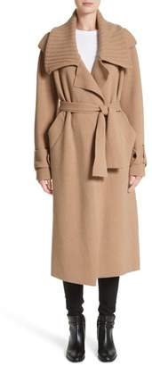 Burberry Piota Wool Blend Knit Trench Coat