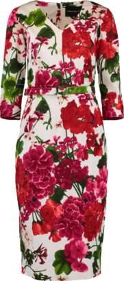 Samantha Sung Bougainville Printed Dress
