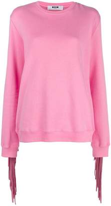 MSGM fringe logo sweatshirt