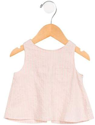 Caramel Baby & Child Girls' Striped Open Back Top