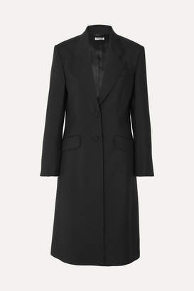 Miu Miu Mohair And Wool-blend Coat - Black