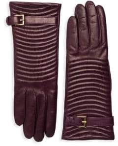Portolano Quilted Leather Gloves