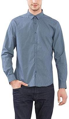 Esprit Men's 996EE2F904 Casual Shirt, Blue (Navy)