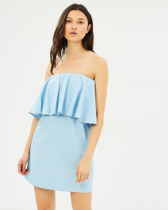 Glamorous Chambray Off Shoulder Dress