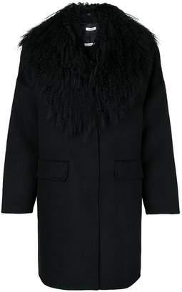 P.A.R.O.S.H. fur collared coat