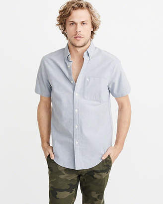 Abercrombie & Fitch Icon Short-Sleeve Oxford Shirt