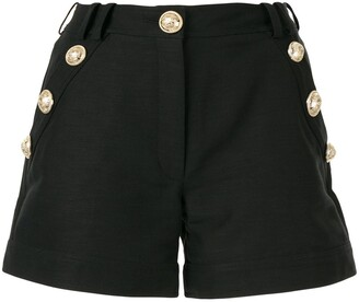 Balmain embossed button shorts
