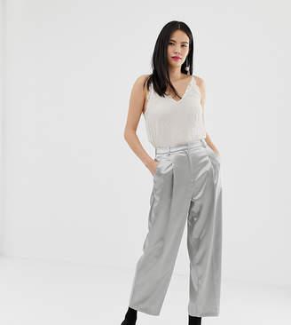 Miss Selfridge straight leg trousers in silver