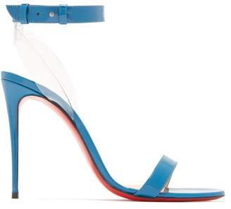 Christian Louboutin Jonatina 100 Leather Sandals - Womens - Blue