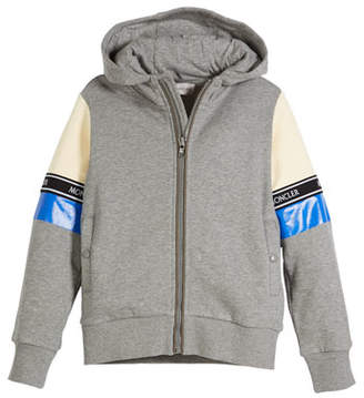 Moncler Completo Colorblock Jacket & Joggers Set, Light Gray, Size 4-6