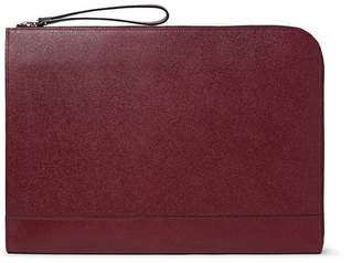 Valextra Pebble-Grain Leather Portfolio - Burgundy