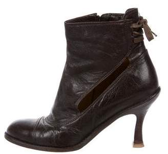 Dries Van Noten Cutout Leather Boots