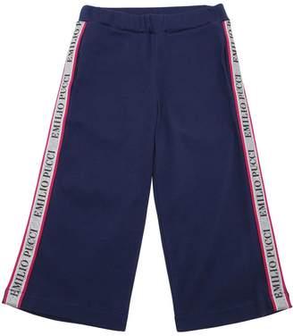 Emilio Pucci Flared Cotton Sweatpants W/ Logo Bands
