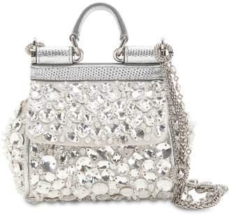 Dolce & Gabbana Micro Sicily Crystals Embellished Bag