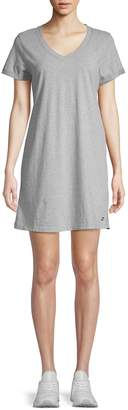 Calvin Klein Heathered Cotton T-Shirt Dress