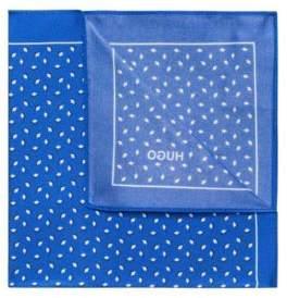 HUGO Boss Diamond Italian Silk Pocket Square One Size Light Blue