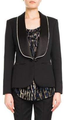 Redemption Wool Tuxedo Jacket w/ Strass Lapel Border