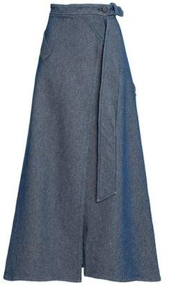 CHRISTOPHER ESBER Two-Tone Cotton And Linen-Blend Twill Maxi Wrap Skirt
