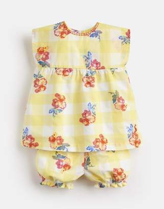 Joules Edith Woven Top And Shorts Set