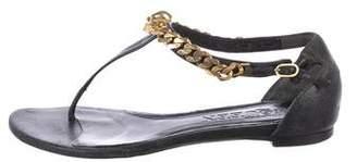 Alexander McQueen Skull Chain T-Strap Sandals