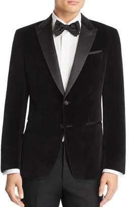 HUGO Helward Velvet with Satin Lapel Slim Fit Tuxedo Jacket