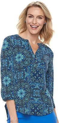 Dana Buchman Women's Knit Henley Top