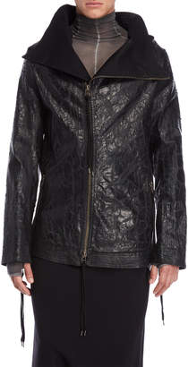 Army Of Me Crackle Spread Collar Jacket