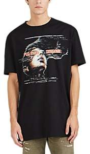 "Balmain Men's ""I'm Only Human"" Cotton Oversized T-Shirt - Black"