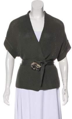 Brunello Cucinelli Heavy Knit Cardigan Olive Heavy Knit Cardigan