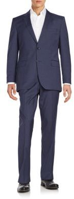 Hugo Boss James Plaid Wool Suit