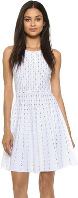 Milly Vertical Dot Flare Dress $450 thestylecure.com