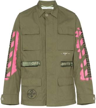 Off-White utility pocket shirt jacket