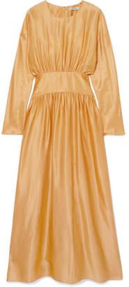 Deitas - Hermine Silk-satin Midi Dress - Gold