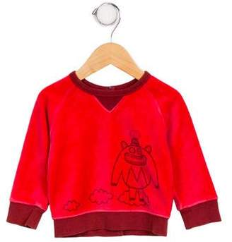 Little Marc Jacobs Boys' Printed Crew Neck Sweater