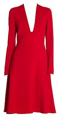 Stella McCartney Women's Stretch Cady Low Neck Long Sleeve Dress