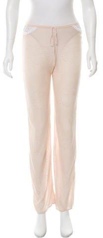 Christian Dior Open Knit Straight-Leg Pants