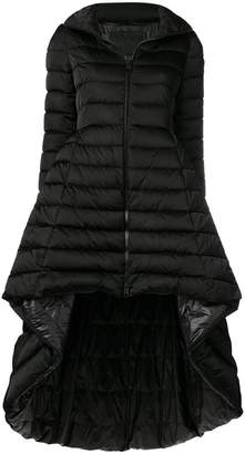 Herno high low peplum puffer jacket