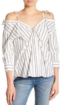 Joie Alvina Striped Cold Shoulder Top