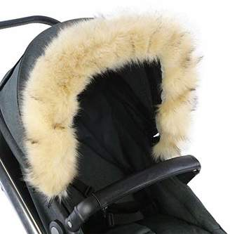 Baby Trend For-Your-Little-One Fur Hood Trim Pram Compatible on Baby Trend, Beige