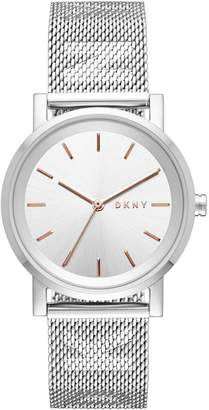 DKNY Black Dial Ladies Stainless Steel Watch