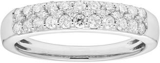 Platinum 1/2 Carat T.W. IGL Certified Diamond Pave Wedding Band