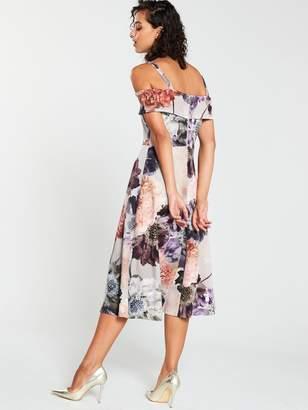 Very Scuba Printed Prom Dress - Print