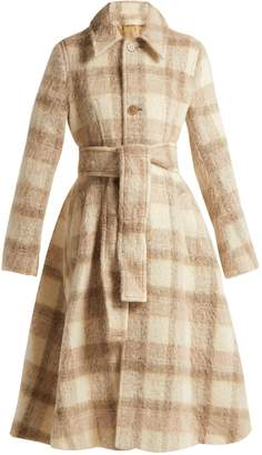 Acne Studios Checked belted A-line coat