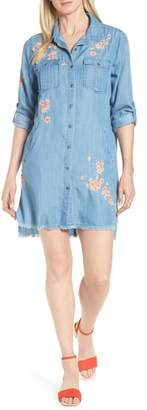 BILLY T Cherry Blossom Shirtdress
