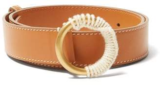 Roksanda Yarn Wrapped Buckle Leather Belt - Womens - Tan