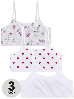 Very Girls 3 Pack Sketch Print Crop Tops