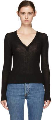 Alexander Wang Black Deep V-Neck Sweater