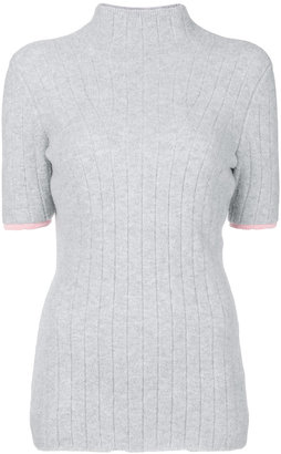 ribbed detail roll neck top