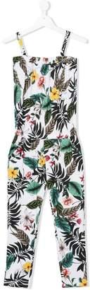 Liu Jo Kids tropical-print jumpsuit
